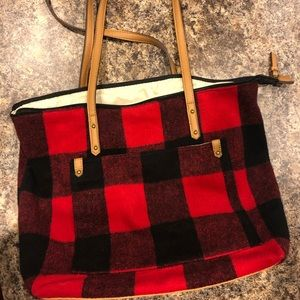 Sonoma Black and Red Checkered Bag